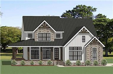 4-Bedroom, 3146 Sq Ft Farmhouse House - Plan #189-1130 - Front Exterior