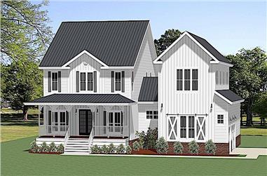 3-Bedroom, 2915 Sq Ft Farmhouse House - Plan #189-1131 - Front Exterior