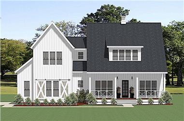 3-Bedroom, 3121 Sq Ft Farmhouse Home - Plan #189-1132 - Main Exterior