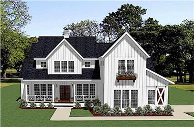 4-Bedroom, 3163 Sq Ft Farmhouse Home - Plan #189-1133 - Main Exterior
