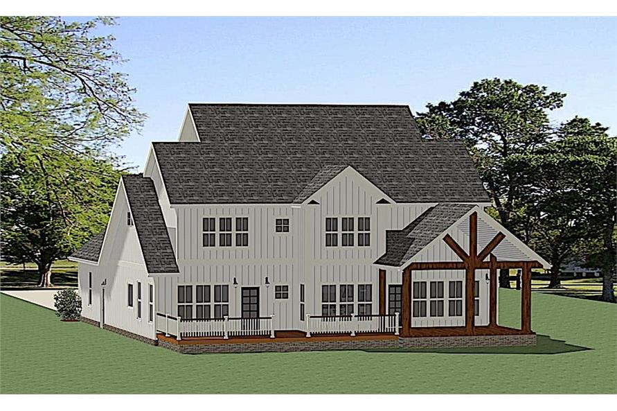 Rear View of this 3-Bedroom,2715 Sq Ft Plan -2715