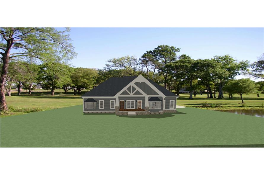Rear View of this 3-Bedroom,2954 Sq Ft Plan -189-1135