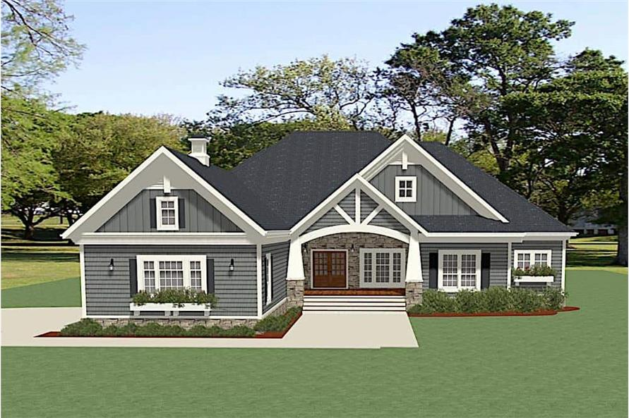 3-Bedroom, 2954 Sq Ft Ranch House - Plan #189-1135 - Front Exterior