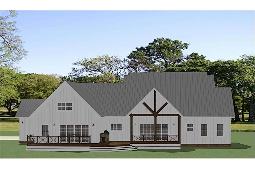 Rear View of this 3-Bedroom,2680 Sq Ft Plan -189-1137