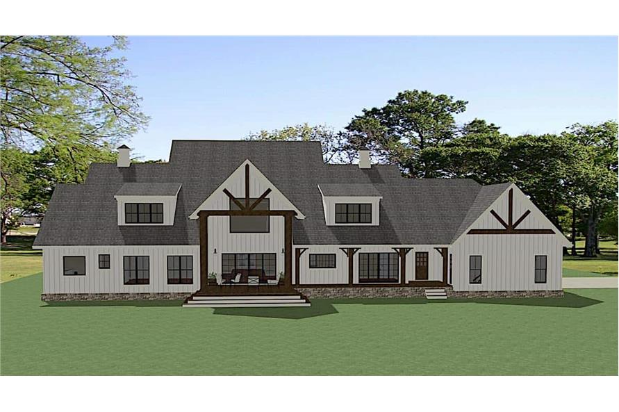Rear View of this 5-Bedroom,4991 Sq Ft Plan -189-1138