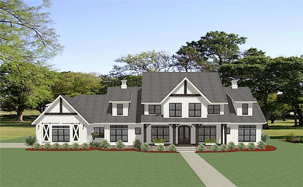 Front elevation of Colonial home (ThePlanCollection: House Plan #189-1138)