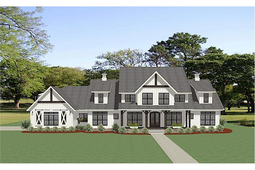 5-Bedroom, 4991 Sq Ft Colonial Home Plan - 189-1138 - Main Exterior