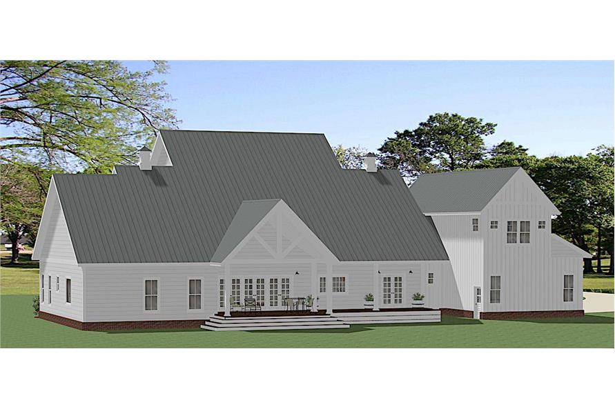Rear View of this 5-Bedroom,4455 Sq Ft Plan -189-1140