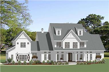 5-Bedroom, 4455 Sq Ft Modern Farmhouse Home Plan - 189-1140 - Main Exterior