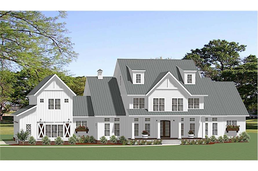 5-Bedroom, 4455 Sq Ft Modern Farmhouse Home Plan - 189-1140 - Main Exterior