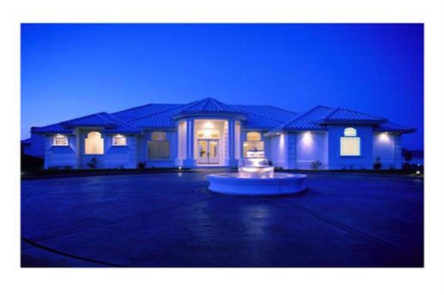 4-Bedroom, 3556 Sq Ft Concrete Block/ ICF Design Home Plan - 190-1003 - Main Exterior