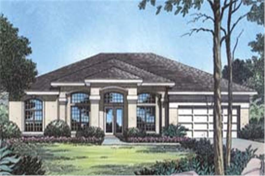 190-1005: Home Plan Front Elevation