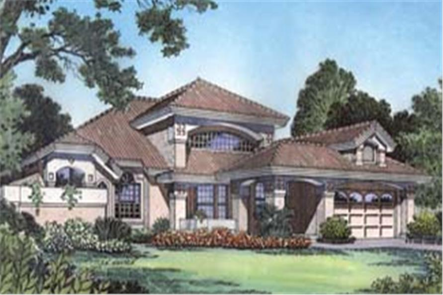 190-1007: Home Plan Front Elevation