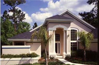 4-Bedroom, 2224 Sq Ft Florida Style House Plan - 190-1008 - Front Exterior