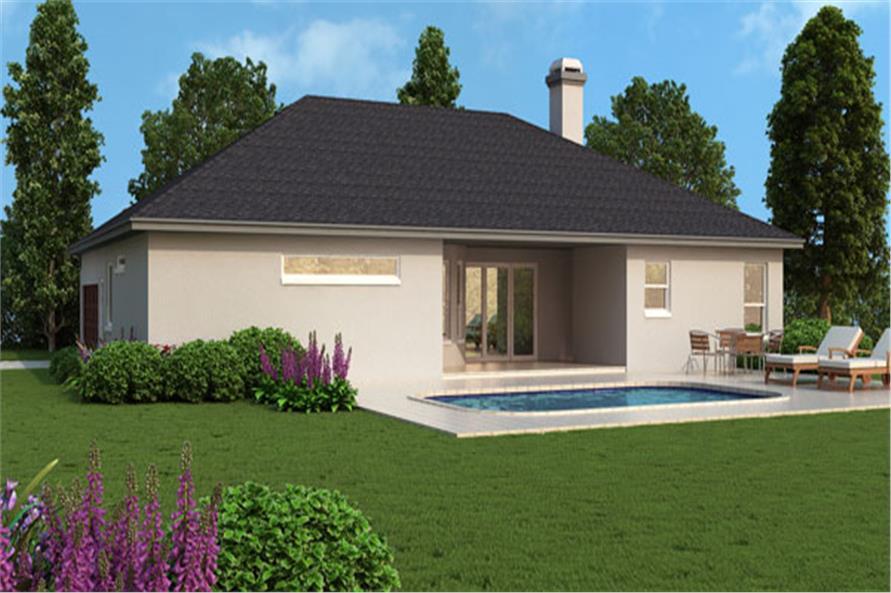 190-1011: Home Exterior Photograph-Rear View