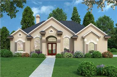 4-Bedroom, 2140 Sq Ft Contemporary Home Plan - 190-1011 - Main Exterior