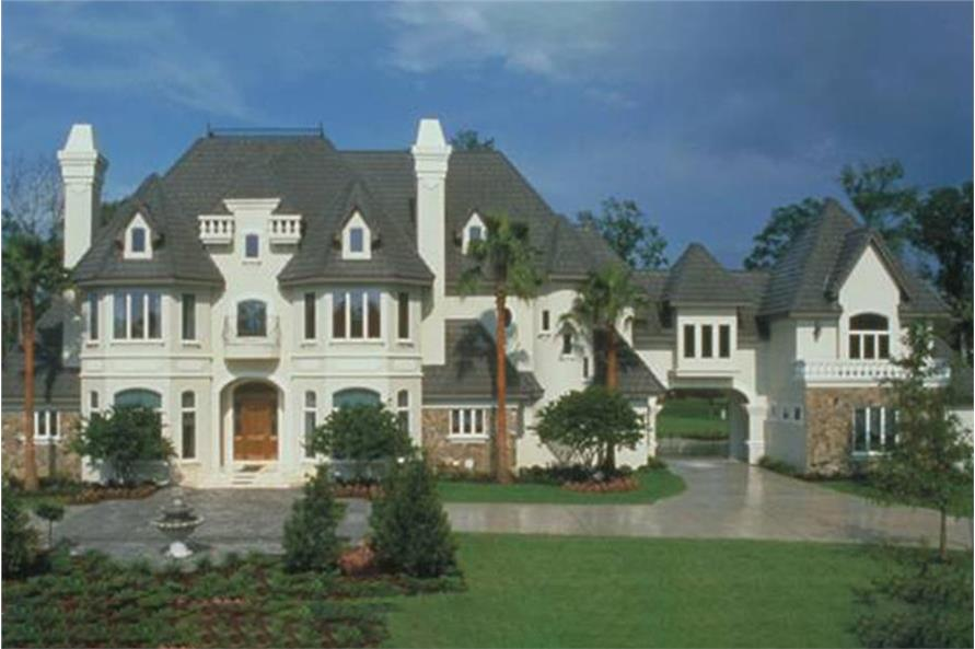 French Country Luxury Chateau House Plan #190-1014: 5 Bedrm, 6462 Sq ...