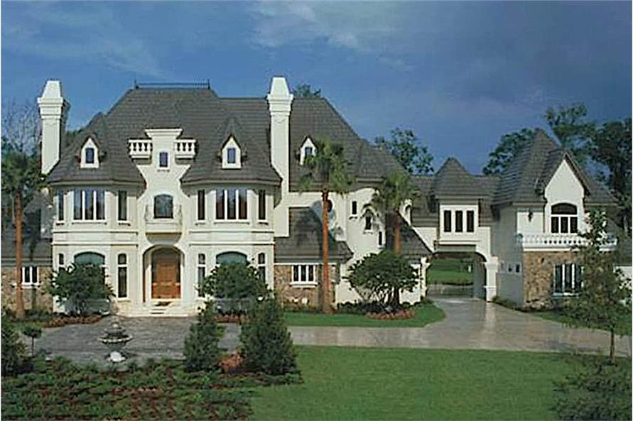 5-Bedroom, 6462 Sq Ft Chateau Home - Plan #190-1014 - Main Exterior
