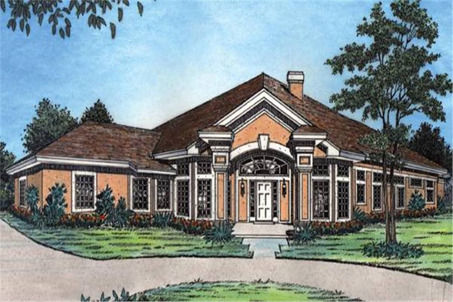 190-1015: Home Plan Front Elevation
