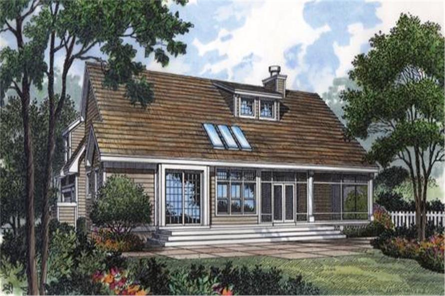 190-1016: Home Plan Rear Elevation
