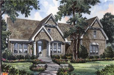 Front elevation of this country style home (ThePlanCollection: House Plan #190-1016)