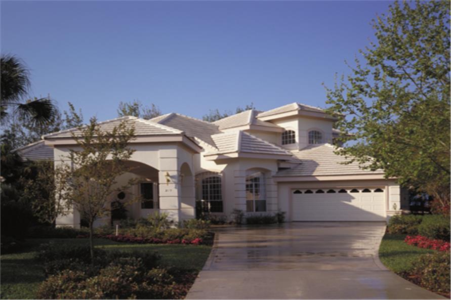 4-Bedroom, 2887 Sq Ft Luxury Home Plan - 190-1018 - Main Exterior