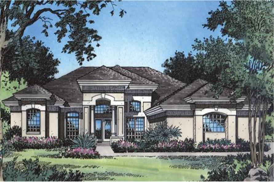Mediterranean house plan 190 1020 4 bedrm 2409 sq ft for Theplancollection com modern house plans