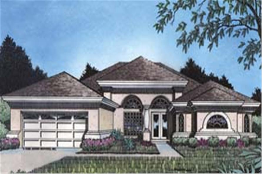 Home Plan Front Elevation of this 4-Bedroom,2352 Sq Ft Plan -190-1022