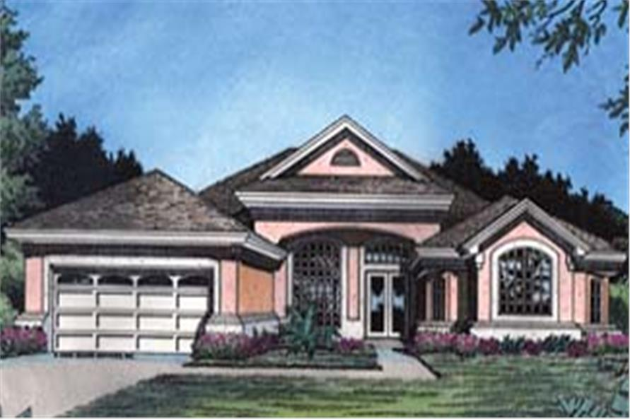 Front elevation of Contemporary home (ThePlanCollection: House Plan #190-1022)
