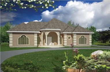 3-Bedroom, 1733 Sq Ft Ranch House Plan - 191-1006 - Front Exterior