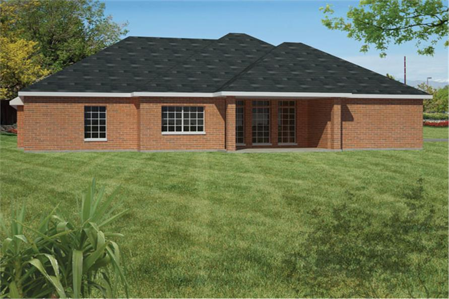 191-1007: Home Plan Rendering