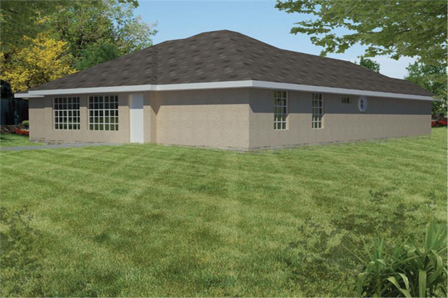 191-1010: Home Plan Rear Elevation