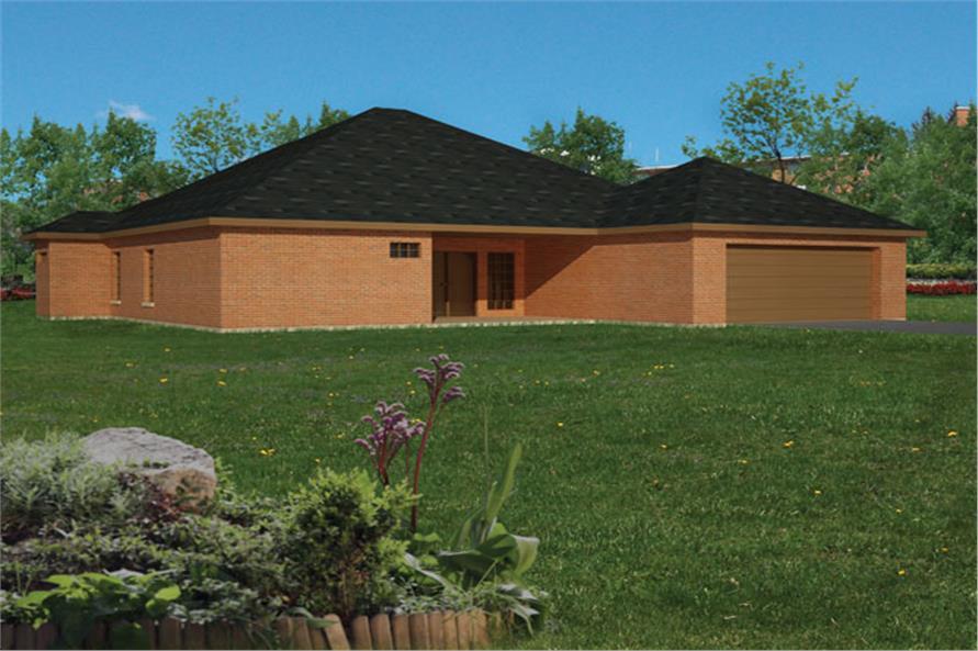 191-1011: Home Plan Rear Elevation