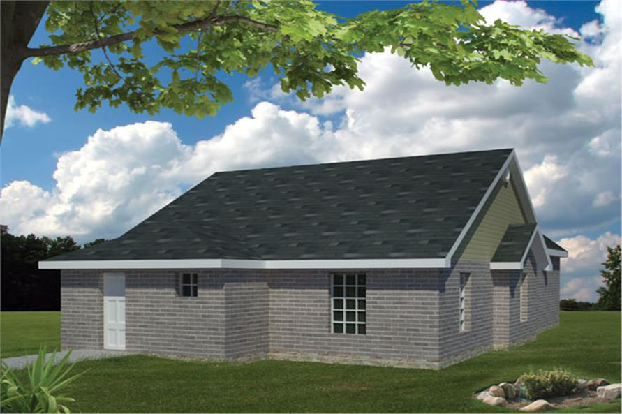 191-1013: Home Plan Rear Elevation