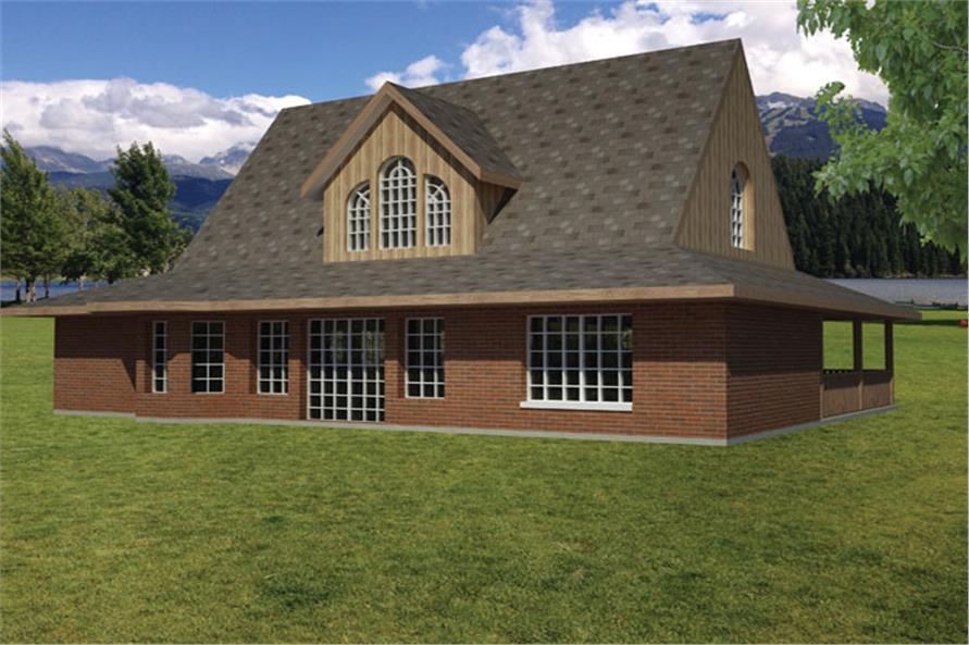 191-1014: Home Plan Rear Elevation