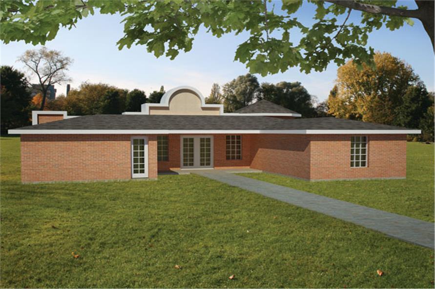 191-1015: Home Plan Rear Elevation