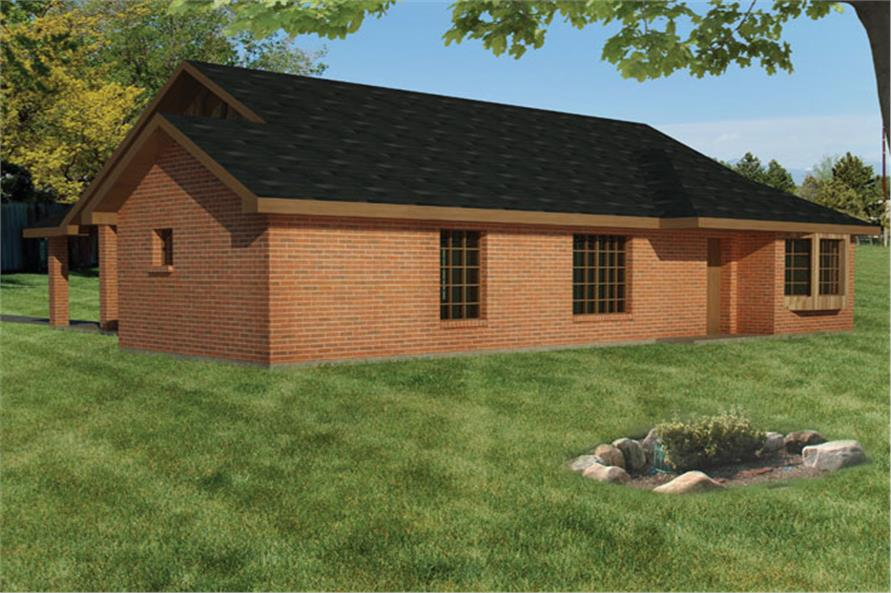 191-1021: Home Plan Rear Elevation