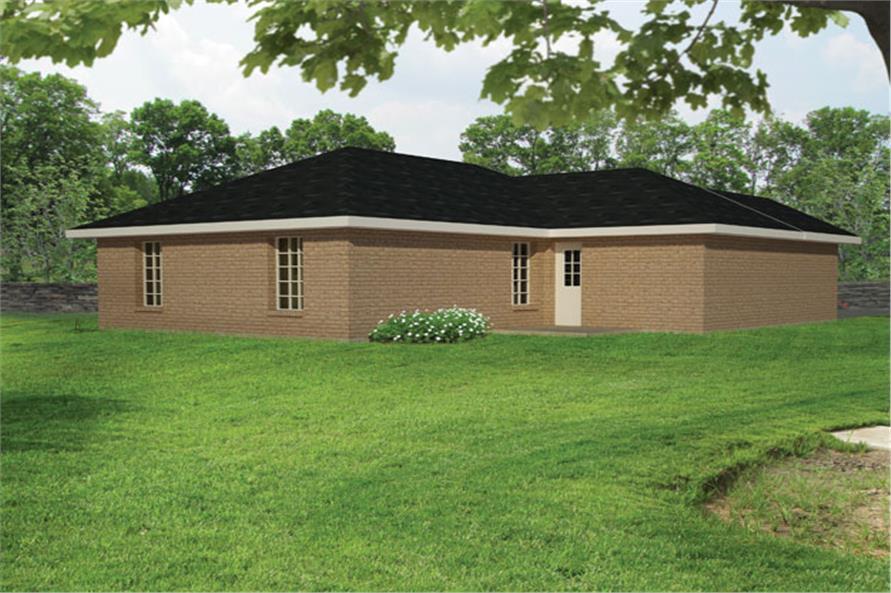 191-1022: Home Plan Rear Elevation