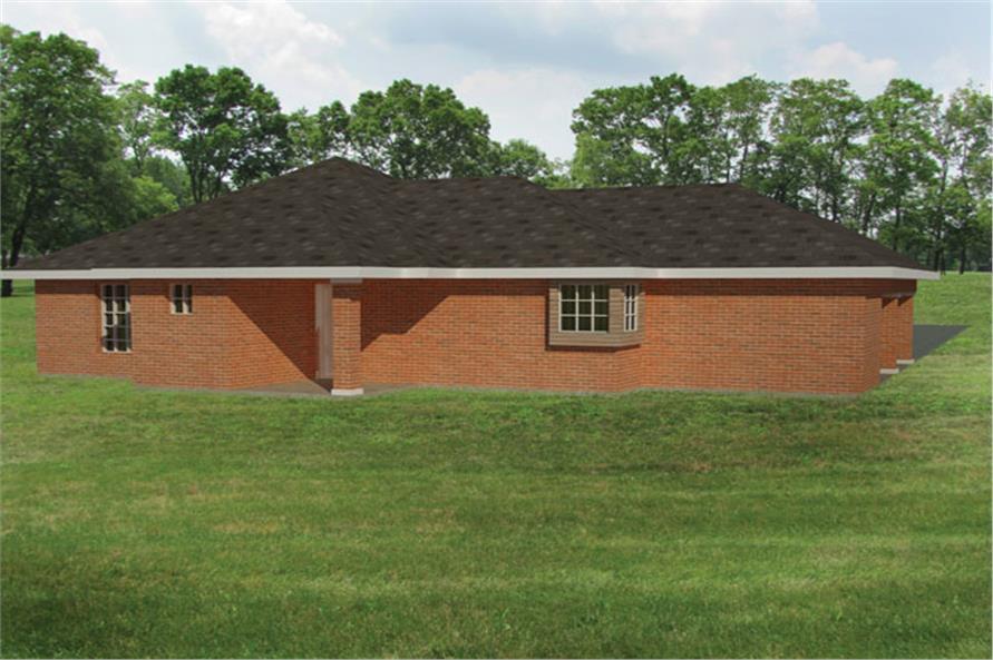191-1025: Home Plan Rear Elevation