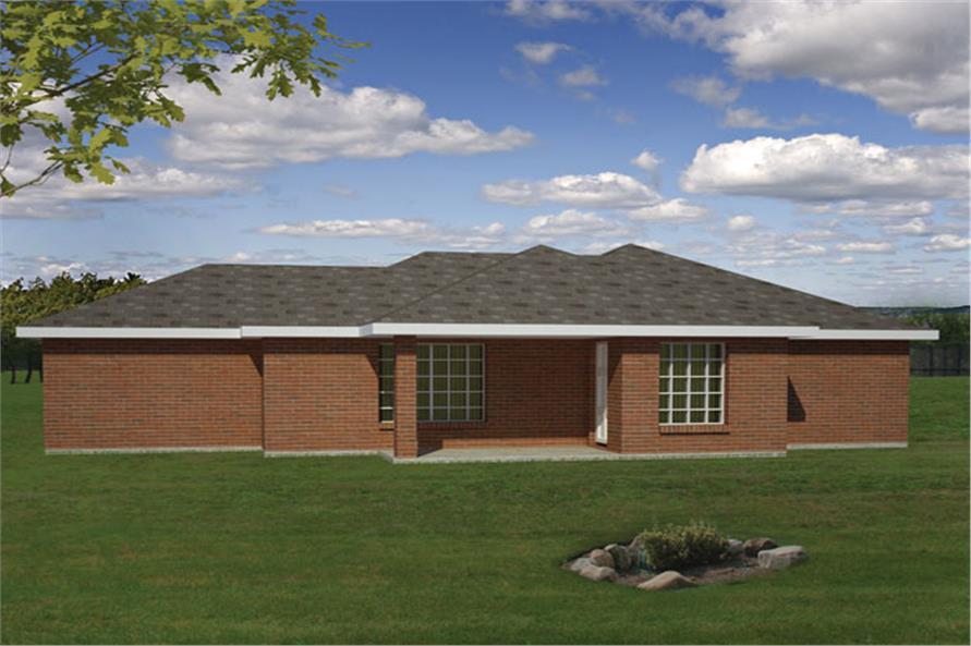 191-1027: Home Plan Rear Elevation