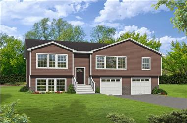 3-Bedroom, 1951 Sq Ft Multi-Level House - Plan #191-1034 - Front Exterior