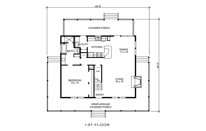 Country house plan 192 1000 3 bedrm 1790 sq ft home for 1000 sq ft house plans first floor