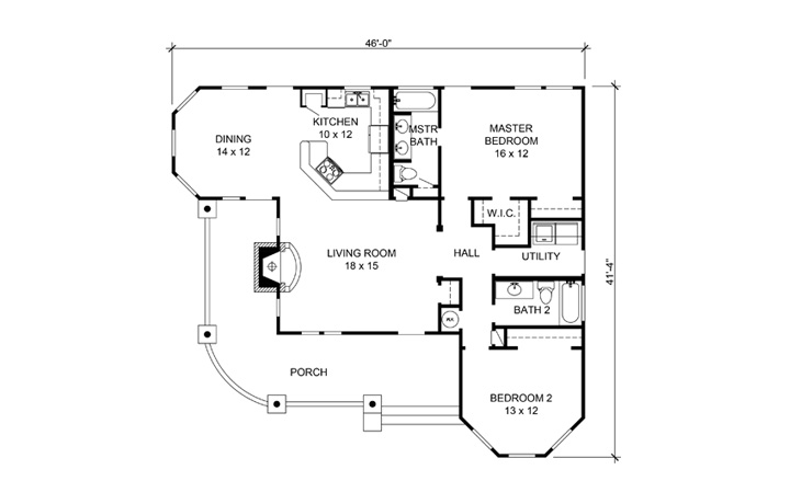 Cottage House Plan 192 1001 2 Bedrm 1270 Sq Ft Home