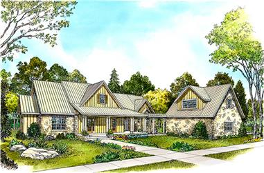 4-Bedroom, 2830 Sq Ft Bungalow House Plan - 192-1007 - Front Exterior