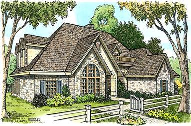 4-Bedroom, 4720 Sq Ft European House Plan - 192-1009 - Front Exterior