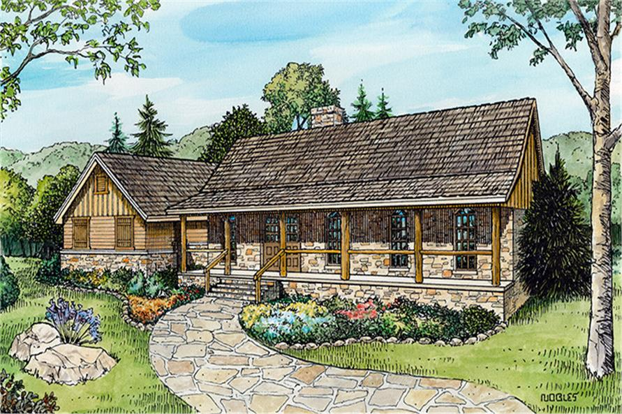 3-Bedroom, 1917 Sq Ft Country House Plan - 192-1010 - Front Exterior