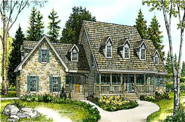 3-Bedroom, 2916 Sq Ft Country Home Plan - 192-1015 - Main Exterior