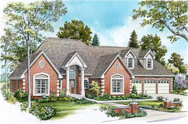 4-Bedroom, 3482 Sq Ft Traditional Home Plan - 192-1016 - Main Exterior