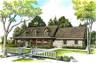 3-Bedroom, 2253 Sq Ft European House Plan - 192-1023 - Front Exterior