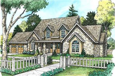4-Bedroom, 4112 Sq Ft Country House Plan - 192-1026 - Front Exterior